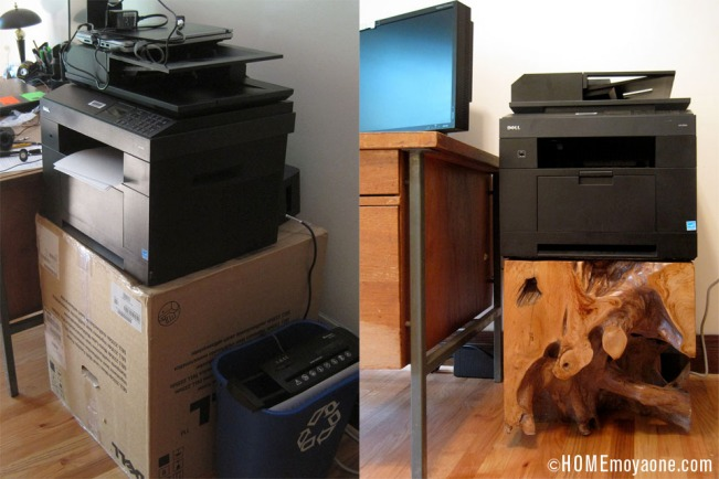 HOMEmoyaone_printer-stand_before-after